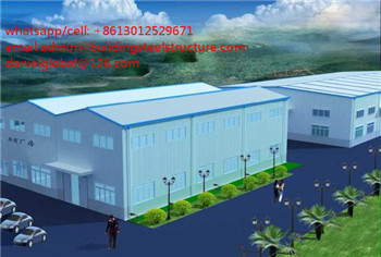 modern design steel structure warehouse with crane inside