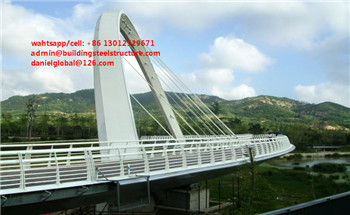design for steel structure pedestrian bridge