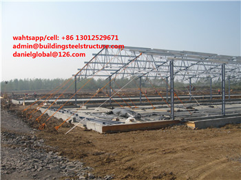 China low cost steel structure design broiler poultry farm structures building shed
