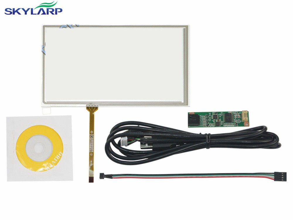 6.2 Inch 4 Wire Resistive Touch Screen USB Controller for HSD062IDW1 A00 A20 Screen touch panel Glass Free shipping