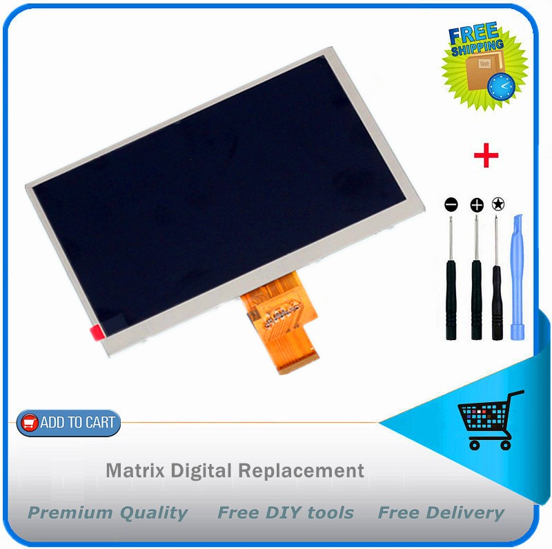 7 inch LCD KW070TNA2 KW070TNA2-3.5 for Teclast P76T Dual-core Display screen 40pin HD Screen Free Shipping + DIY tools