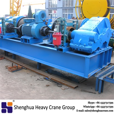 China HSHCL high speed electric double drum rope pulling winch