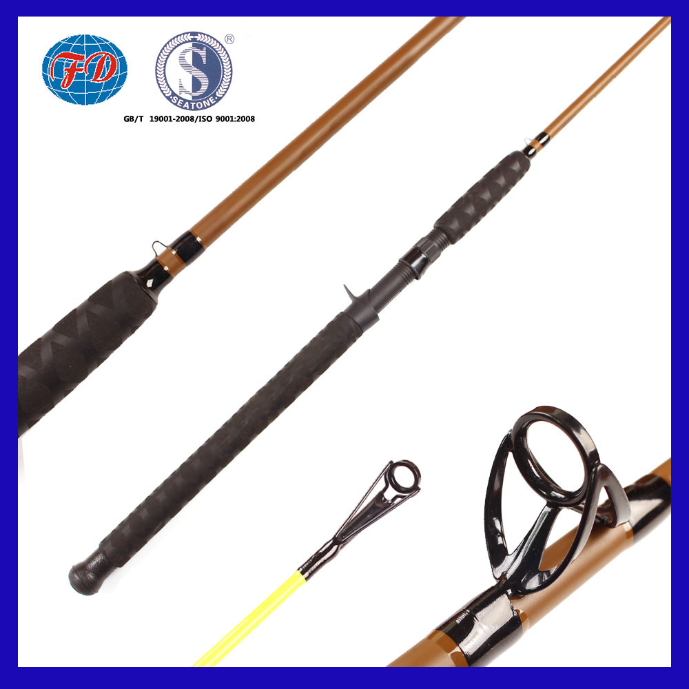 Low price fiber glass fishing rod with Anti-electric handle