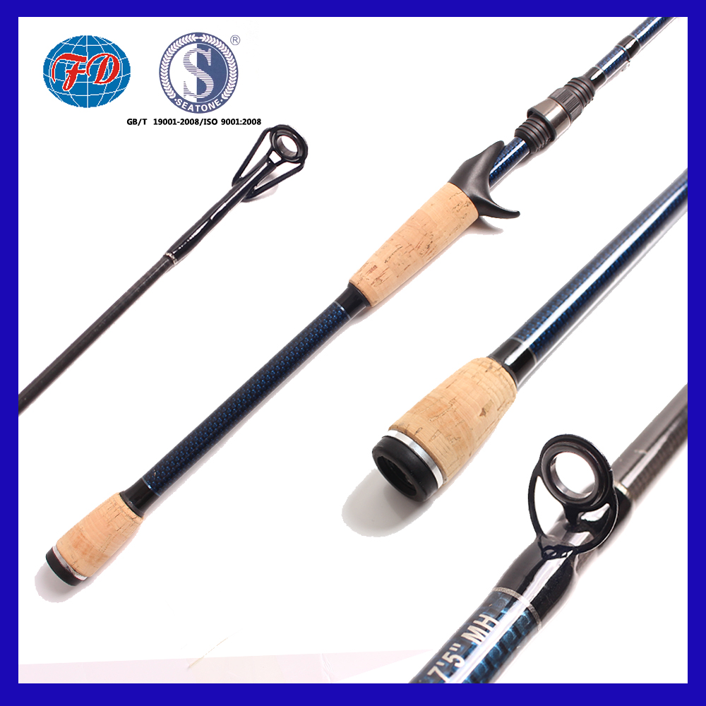 FD003 Hot Sale high strong 1 Section Fishing Rod manufacturer