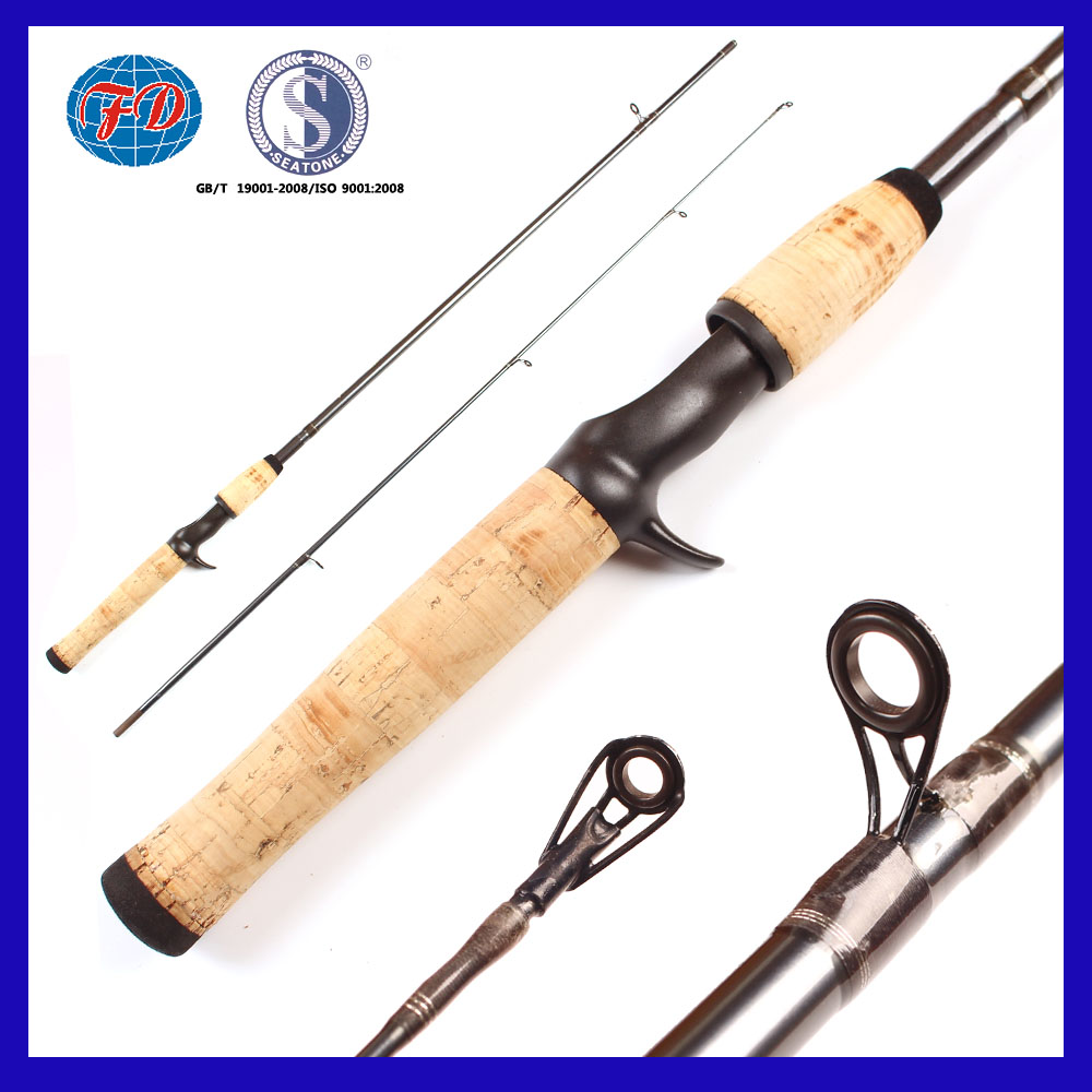 FD006 high strength action fiber glass 2 section fishing rod