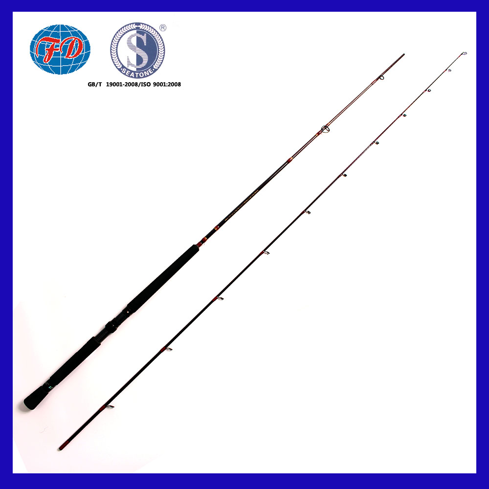FD007 high hardness 100% carbon fiber fishing rod with EVA handle