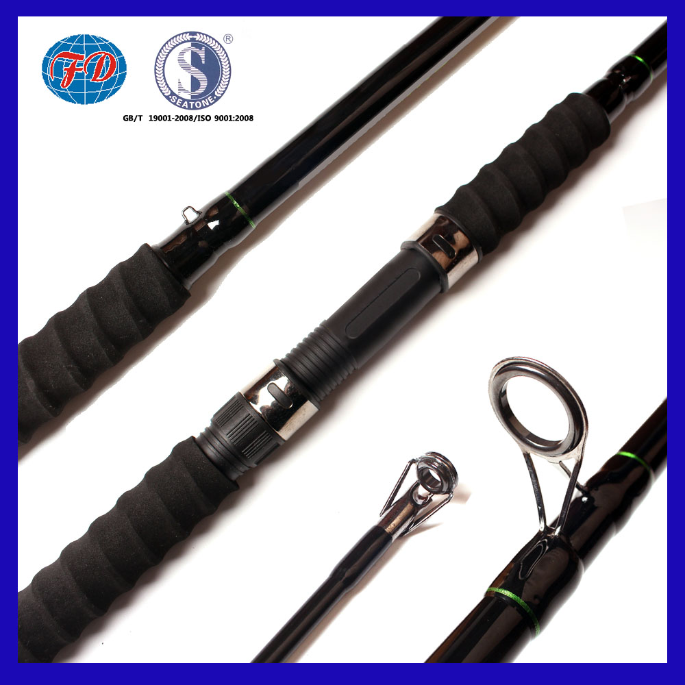 high hardness strengthen fiber glass 2.1m 2.4m 2.7m fishing rod with screw EVA handle