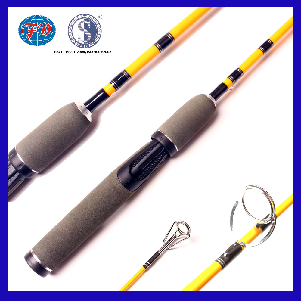 China hot selling fiber glass 2 section glass lure fishing rod wholesale
