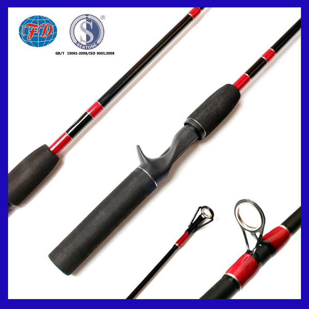 1.68m 1.83m 1.98m 2.13m Fiber Glass fresh water fishing rod supplier