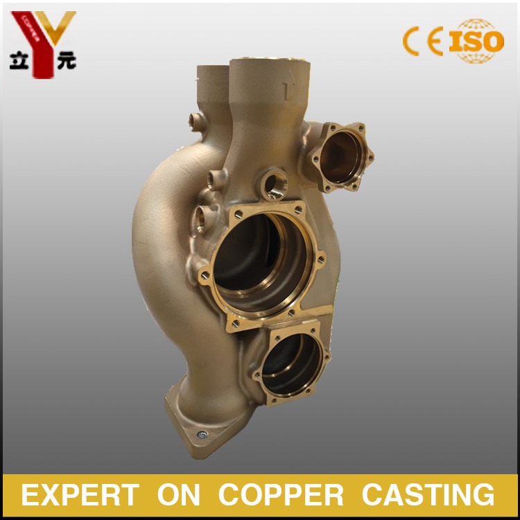 ODM precoated sand casting complex bronze pump / brass valve  body manufacturer