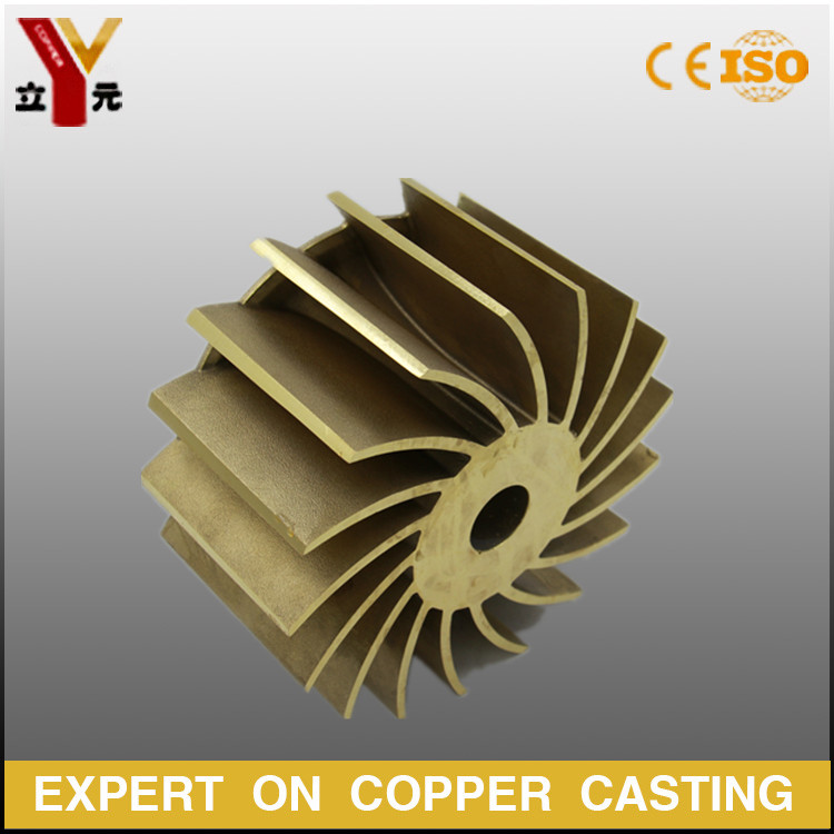 OEM investment casting liquid ring pump bronze impeller in various specifications manufacturer