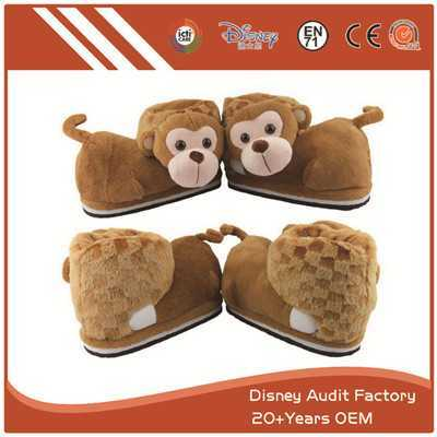 Plush Monkey Slippers