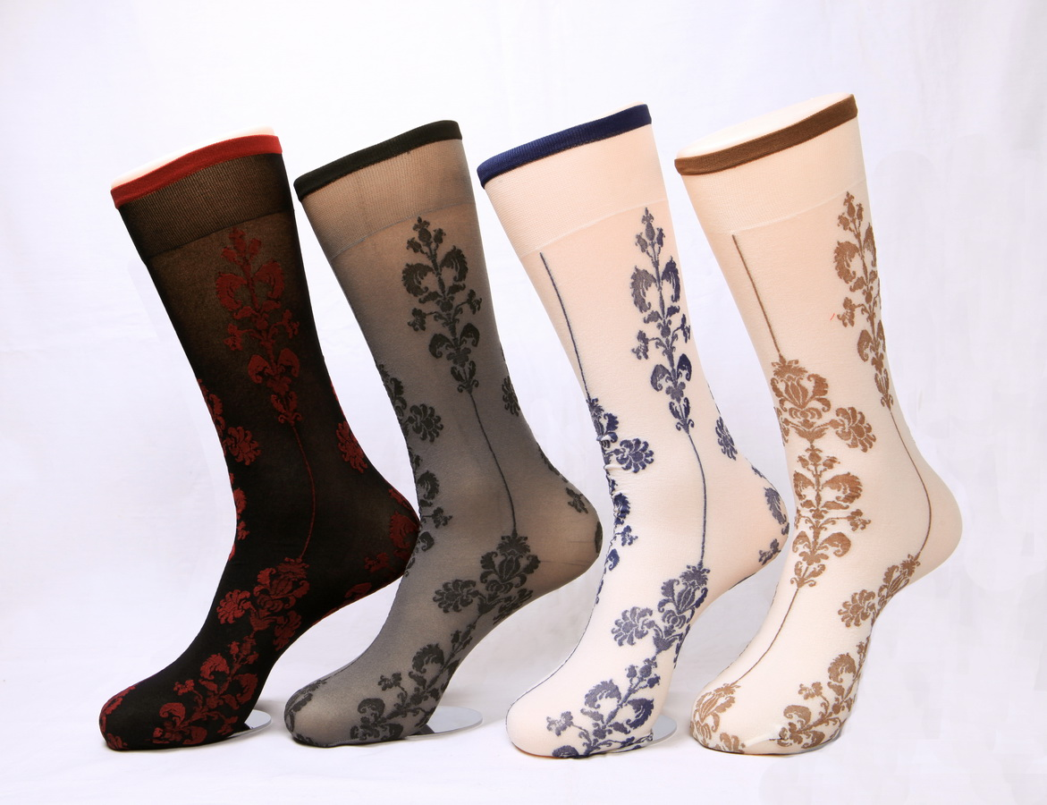 Women's 400N sheer floral trouser socks