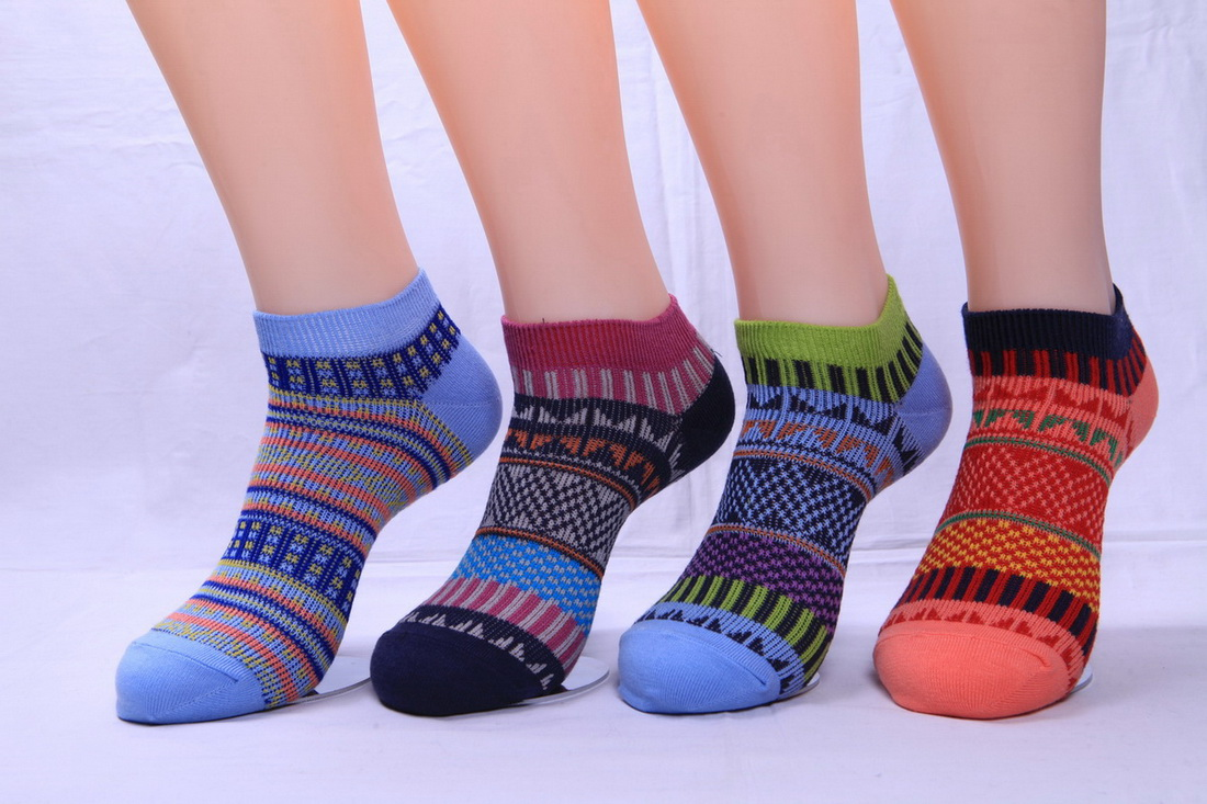 Women's 176N jacuqard low cut socks