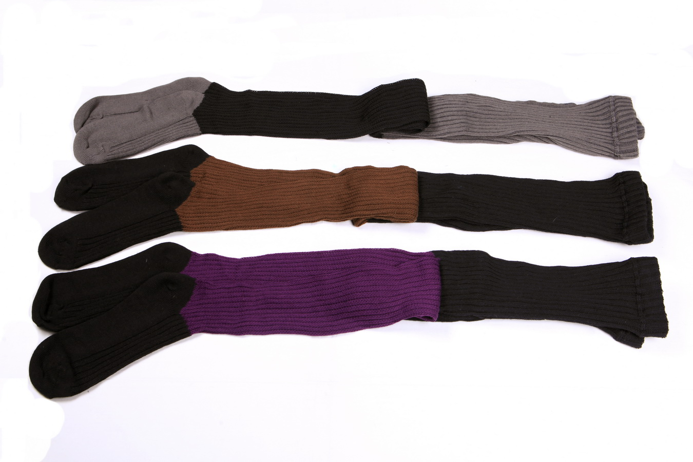 Women's fall & winer textured rib footed sweater tights