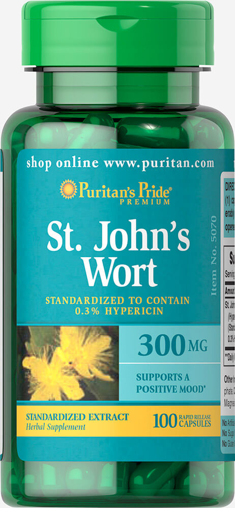 St. John's Wort Standardized Extract 300mg (100 Capsules)
