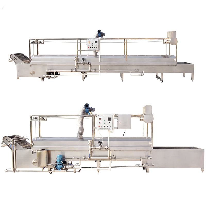 Semi automatic professional continuous food boiling/cooking line equipment