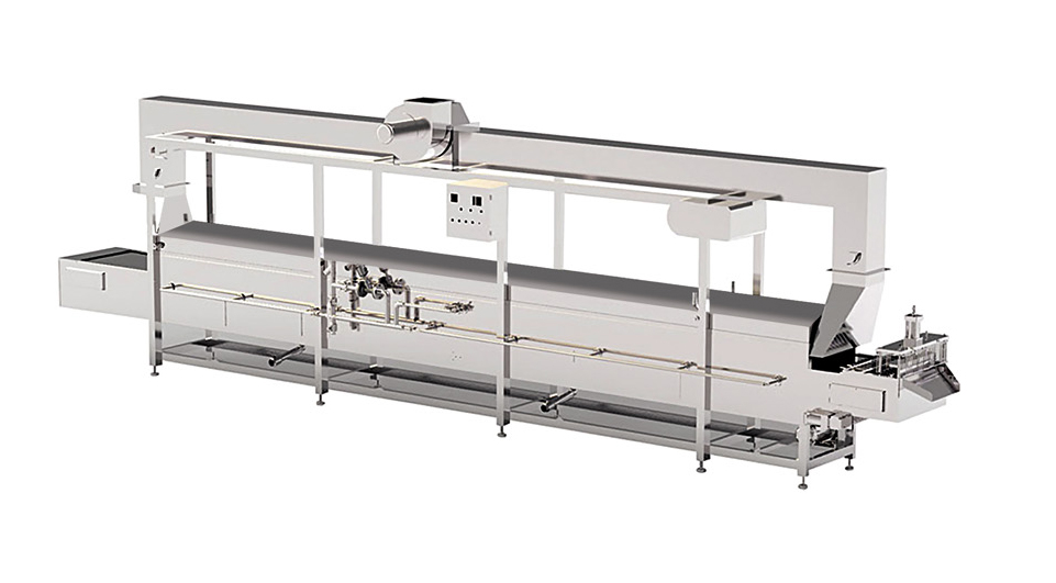 Factory direct best price continuous food grade steam line/cooking line
