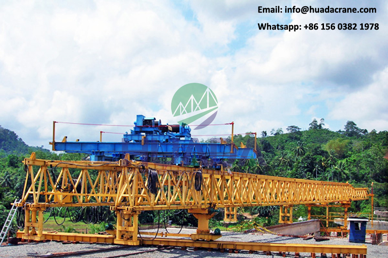 120ton MRT bridge u beam girder erection beam launcher machine
