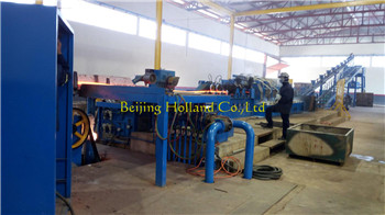 Copper rod continuous casting rolling line