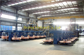 Upward casting copper rod production line