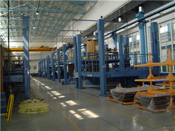 Transformer over floor vertical winding machine