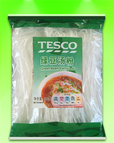 TESCO brand Straight Thick/Wide Vermicelli 500G(18-20double)OEM accept