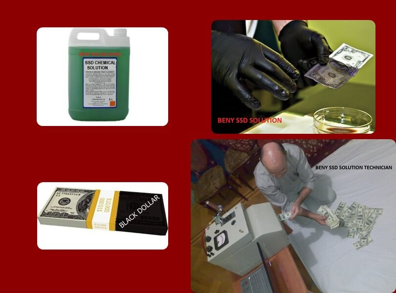 BLACK MONEY CLEANING CHEMICALS