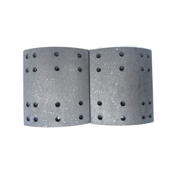 Truck parts brake shoe lining 4551 for FUWA axle