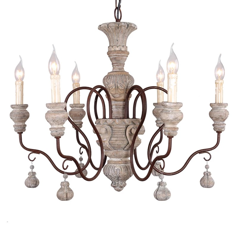 High quality American country 6 lights vintage chandelier wholesale