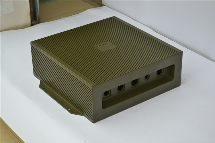 High Quality Anodized Aluminum Extrusion Enclosure / shell for ethernet switch