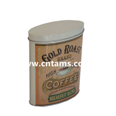 Tam's Oval Coffee Tin Can