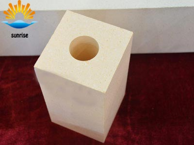 Refractory Brick Dense Zircon Block ZS-65 for the key parts of the furnace