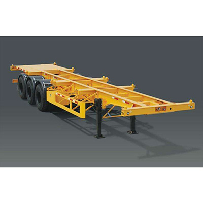 good quality skeleton container flatbed cargo trailer/tank semi trailer for sale