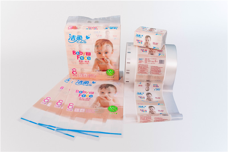 Facial tissue single layer folded CPP plastic film packaging manufacturer