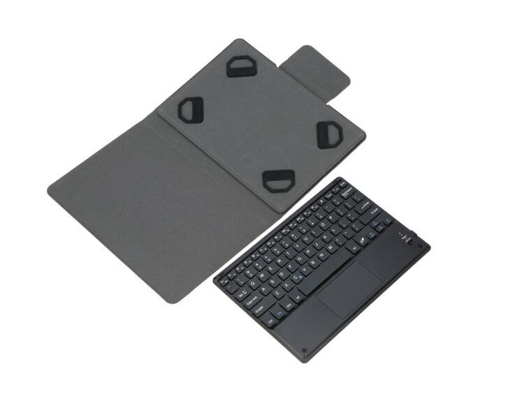 Tablet Wireless Removable Bluetooth Keyboard With Leather Case Cover