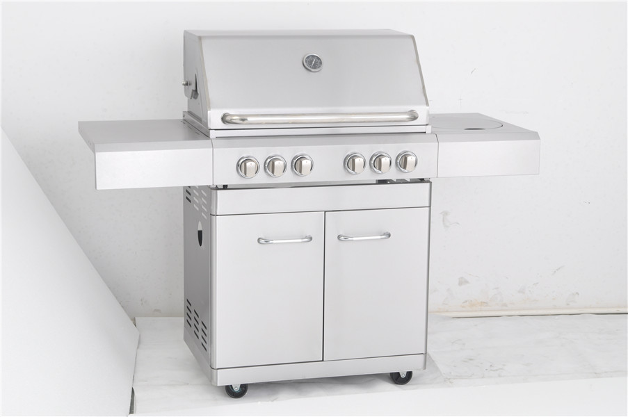 4-Burner Full Stainless Steel freestanding Propane Gas Grill