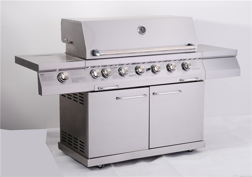 6-Burner Full Stainless freestanding Steel Outdoor Gas Grill with  doors
