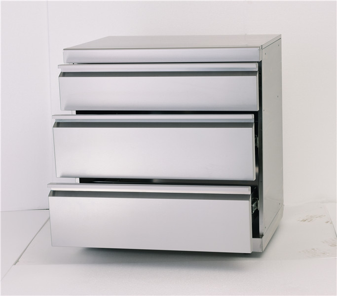 High quality Stainless Steel Outdoor triple drawer cabinet supplier