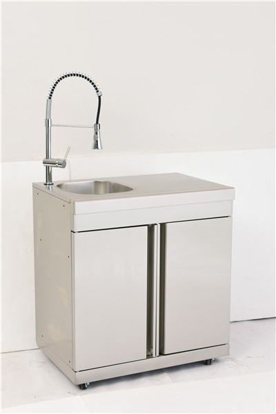 Stainless Steel Outdoor double door cabinet with sink