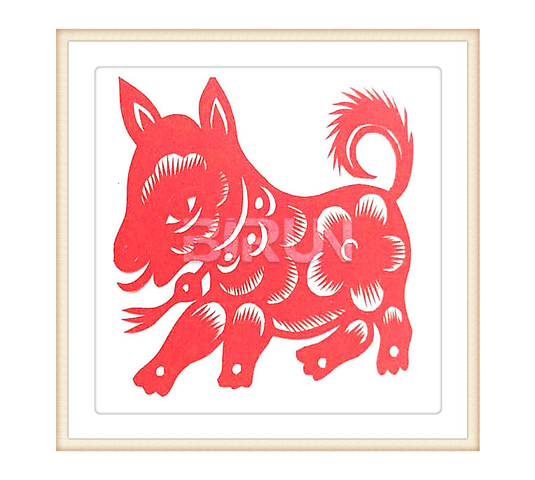 Dog Chinese Paper Cutting