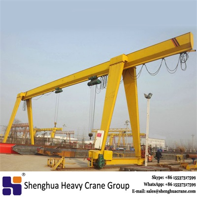 China HSHCL 10 ton single girder gantry crane with electric hoist