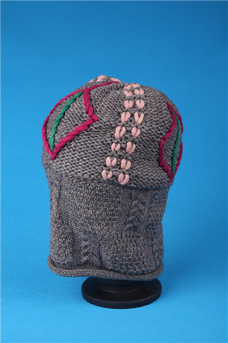 fashion knitted handmade and embroidery hat