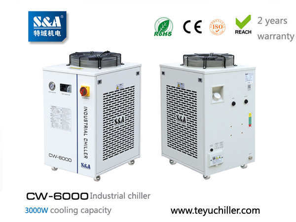 S&A industrial chiller CW-6000 for cooling vacum system
