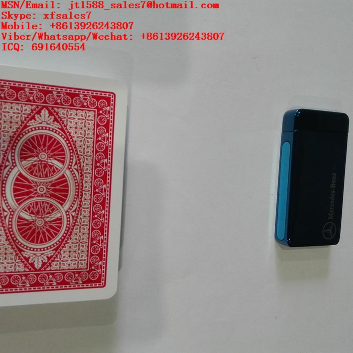 XF Benz Electronic Lighter Camera For Invisible Ink Bar-Code Marked Playing Cards For Poker Analyzer