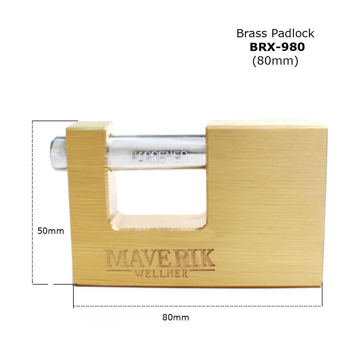 New arrival BRX-980 More strong & durable Solid brass padlock