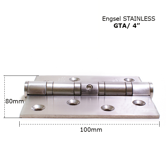 More safely Standard hinge GTA 4 x 3 x 3mm 4BB SS hinge with holes