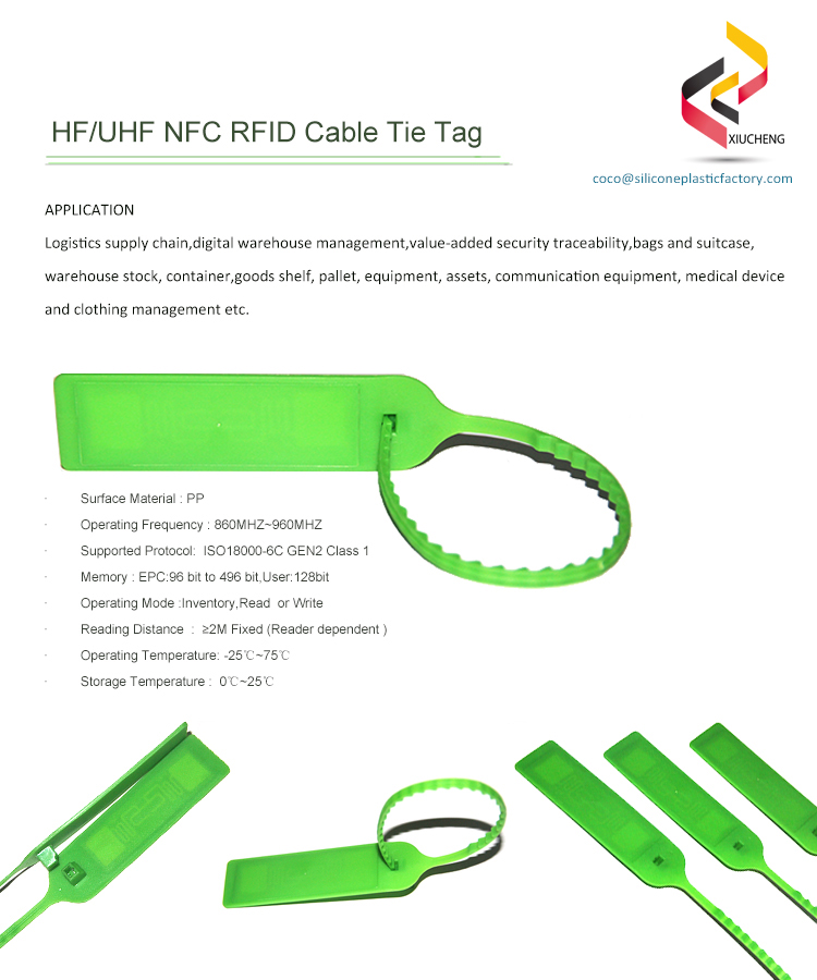 Plastic Material NFC RFID Cable Tie Tag