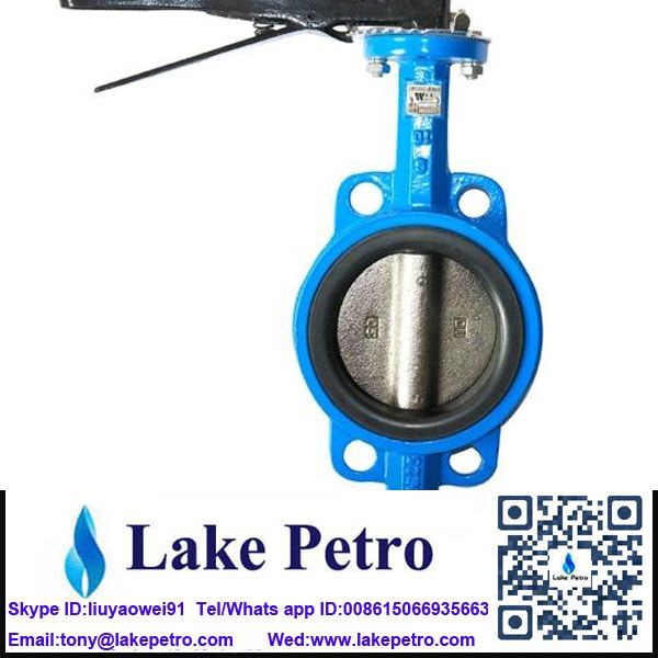 Butterfly valve Wafer type manual low temperature environment