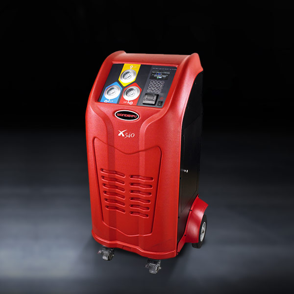 R134a AC gas service machine/equipment with digital scales and accurate charging for gas and oil